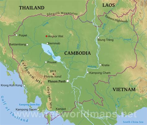 5 themes of geography cambodia kambodscha alte karte