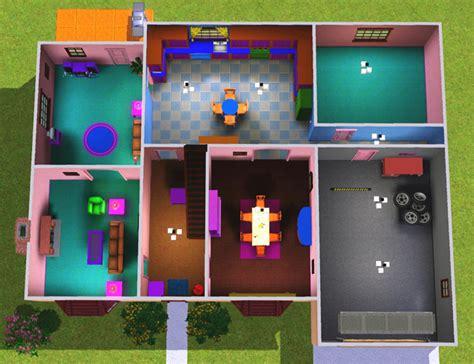 the simpsons house plan simpson plan de maison sims 3 the simpsons house plan casa del los simpsons