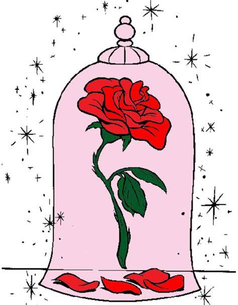 armadio e la bestia disegno di la rosa della e la bestia a colori per