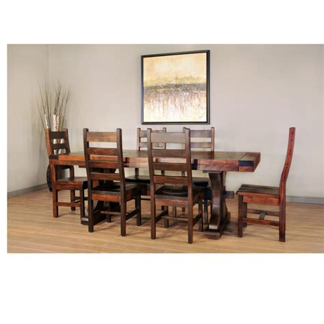 Rustic Carlisle Trestle Table Home Envy Furnishings Canadian Made Dining Room Furniture