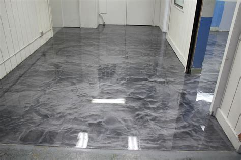 metallic epoxy floor  polyaspartic top coat  box manufacturing plant metallicepoxy
