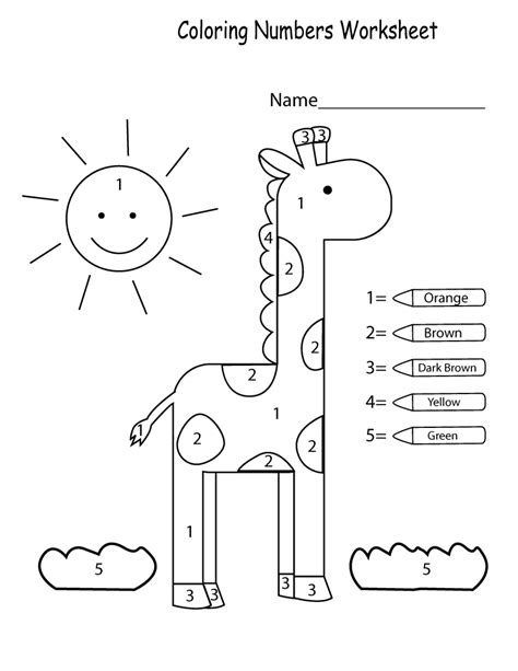 printables for kids color by numbers worksheets free kiddo shelter