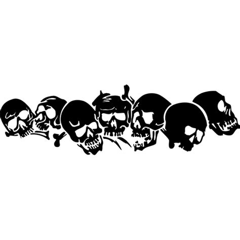 Sticker Cutting Grup Band skull decal sticker skull