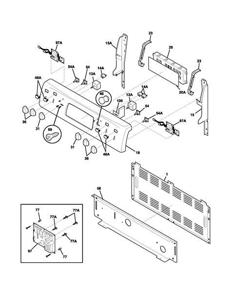 frigidaire oven parts diagram frigidaire plef398ccd electric range timer stove clocks