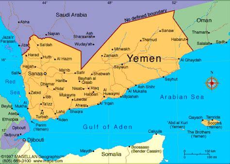 africa map yemen atlas republic of yemen