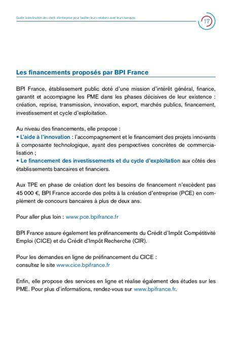 Credit Impot Pour Formation Chef D Entreprise Guide Web M 233 Diation Du Cr 233 Dit Chef D Entreprise Banques