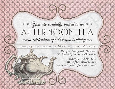 tea invitations templates free tea invitations printable tea printable