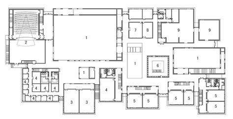 Youth Center Floor Plans architecture photography 1st floor plan 238024