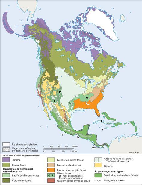 usa vegetation map america vegetation students britannica