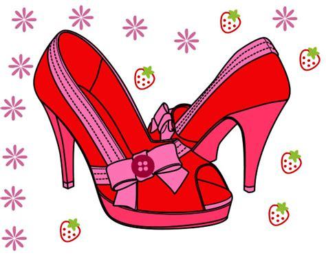 imagenes animadas zapatos dibujo de zapatos con lazo pintado por franciscam en