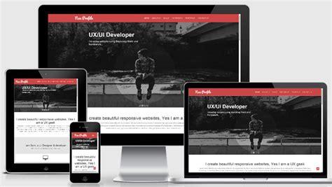 Neu Free Web Designer Profile Responsive Web Template Profile Website Template