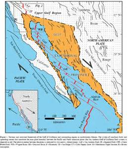 gulf of california on a map science for the detailed maps of the tecontic