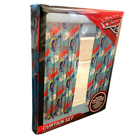 disney cars bedroom curtains disney cars 3 lightning readymade curtains 54 quot drop kids