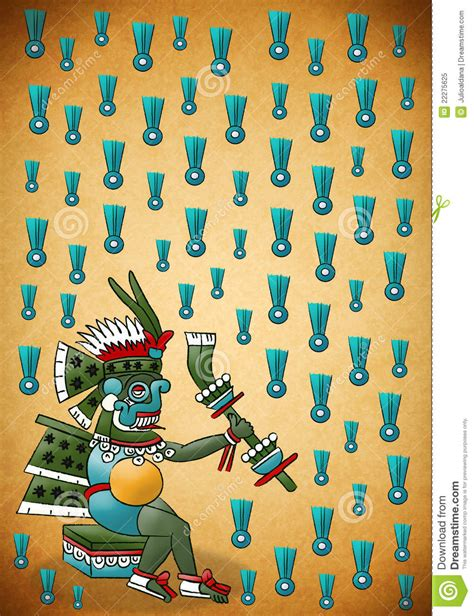 tlaloc mayan aztec deity of water and rain stock