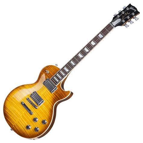 Gitar Gibson Les Paul Hitam 1 disc gibson les paul traditional hp honey burst 2017 at