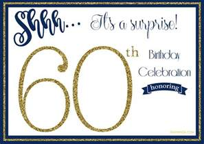 60th birthday invitation templates free printable 60th birthday invitation templates drevio