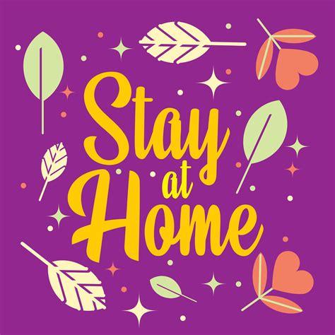 purple stay  home banner   vectors