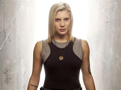 katee sackhoff tattoo sexiest battlestar galactica geekshizzle