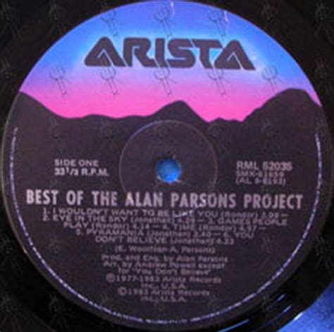 alan parsons project the best of parsons alan project the the best of the alan parsons