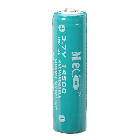 Battery Li Ion 14500 1200 Mah meco 3 7v 1200mah rechargeable 14500 li ion battery 10pcs ebay