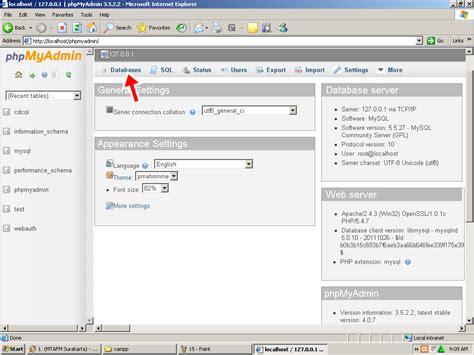 membuat database di localhost xp cara membuat localhost dengan xampp jordan com