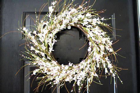 forysthia white wreath spring wreath berry wreath
