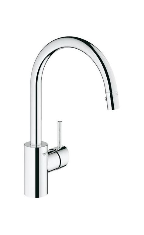Grohe 32 665 Kitchen Faucet by Grohe 32665001 Starlight Chrome Concetto Pull High