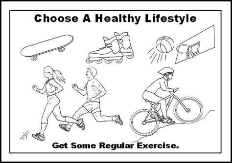 child exercises colouring pages
