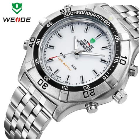 Gratis Ongkir Weide Japan Quartz Stainless 3 Limited weide wristwatch stainless steel sport waterproof quartz led alarm 3 atm water