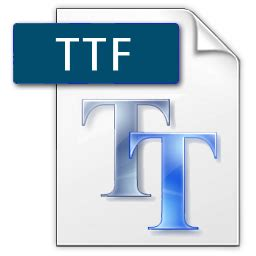 format file ttf torrent icon