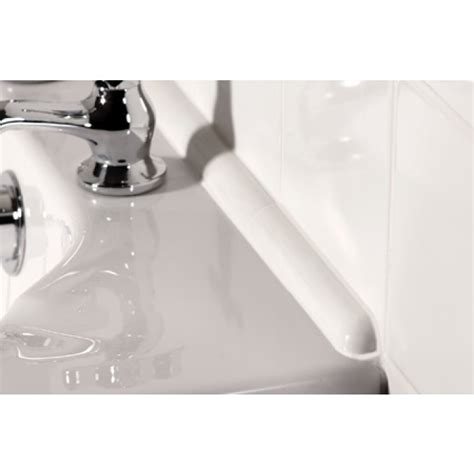 seal bathtub johnsons cristal prg1 ceramic bath seal trim set white gloss