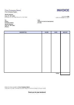 service invoice template word blank service invoice blankinvoice org