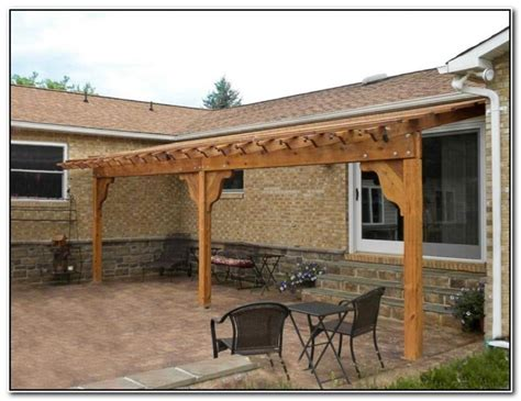 Patio Attached To The House by Amazing Wood Pergola Attached To House Garden Landscape