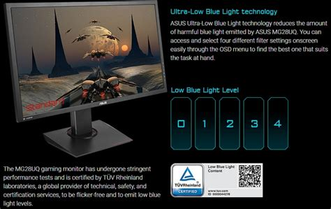 Low Blue Light by Asus Unveils The Mg28uq Ultra Hd Monitor Www Hardwarezone Sg