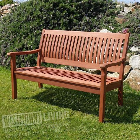 4ft garden bench 4ft hardwood comfort garden bench from westmount living