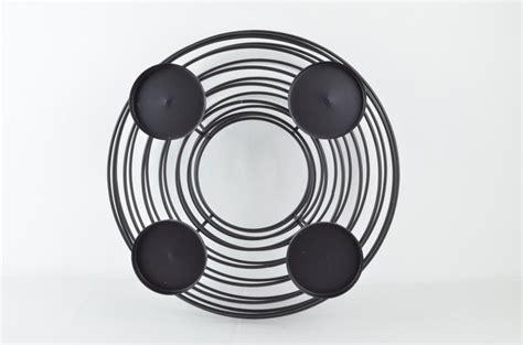 kerzenteller metall schwarz adventskranz in elegantem schwarz kerzenhalter kerzenteller
