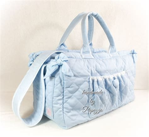 borsa fasciatoio azzurra bambini accessori beb 232 di