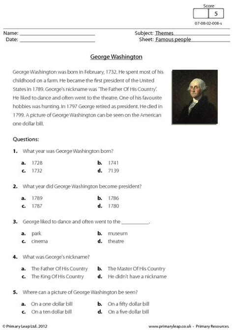 search results for free george washington worksheets comprehension george washington primaryleap co uk