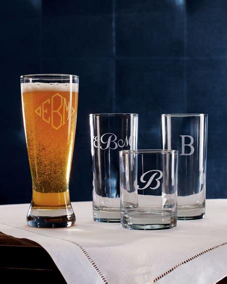 monogrammed barware glasses monogrammed glass barware