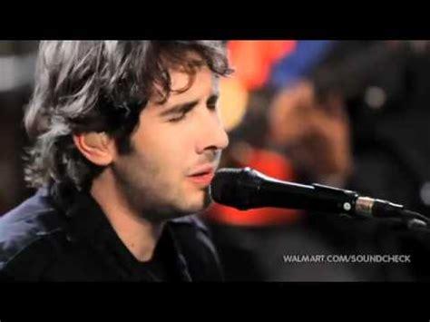 Josh Grobans For February Song by 02 Josh Groban February Song Walmart Soundcheck Flv