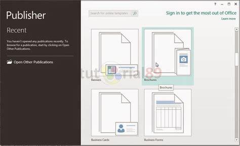 cara membuat brosur menggunakan microsoft publisher cara cepat membuat brosur dengan publisher tutorial89