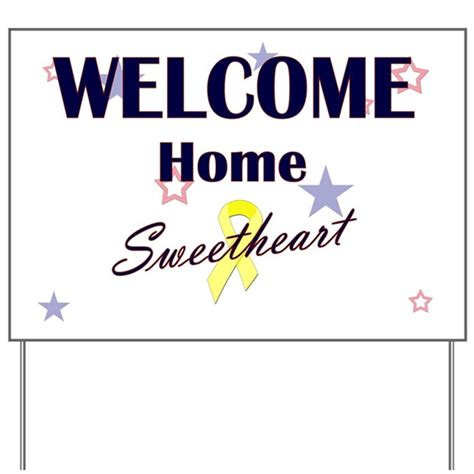 welcome home sweetheart yard sign by honeybeeboutique