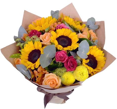 enchanted roses enchanted roses sunflowers bouquet gift flowers hk