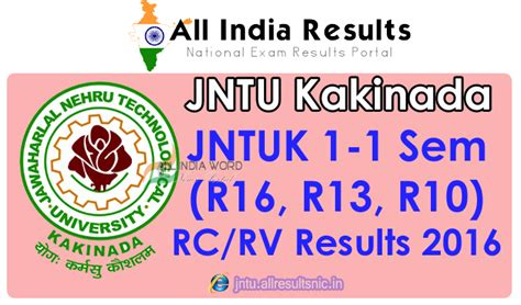 Jntu Mba Results R16 by Jntuk 1 1 Sem R16 R13 R10 Revaluation Recounting