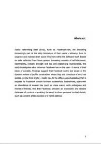 How To Write Abstract For Thesis Dissertation Abstract Examples