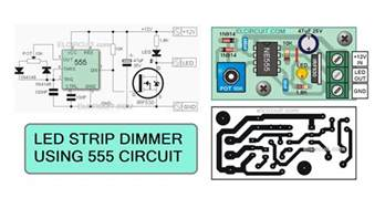 sind led len dimmbar led strips dimmer with 555 circuit electronic circuit