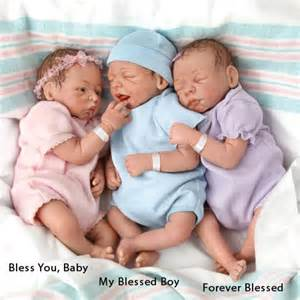 So truly real my forever blessed baby doll newborn preemie triplets