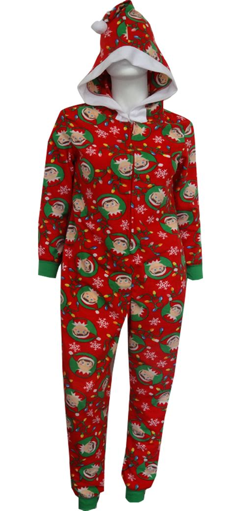 christmas is coming elf on the shelf onesie adult pajama