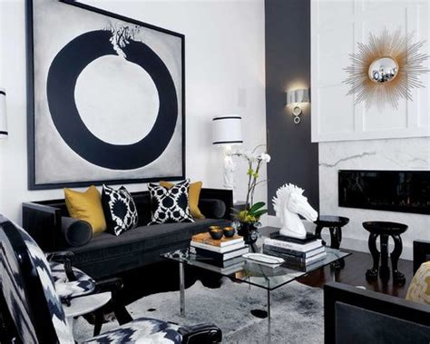 Black White And Gold Living Room - black white gold ideas pictures remodel and decor