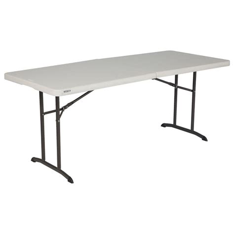 Lifetime 6ft Folding Table Lifetime Almond Folding Table 80382 The Home Depot